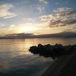 La spiaggia di Stobreč a pochi chilometri da Spalato in Croazia