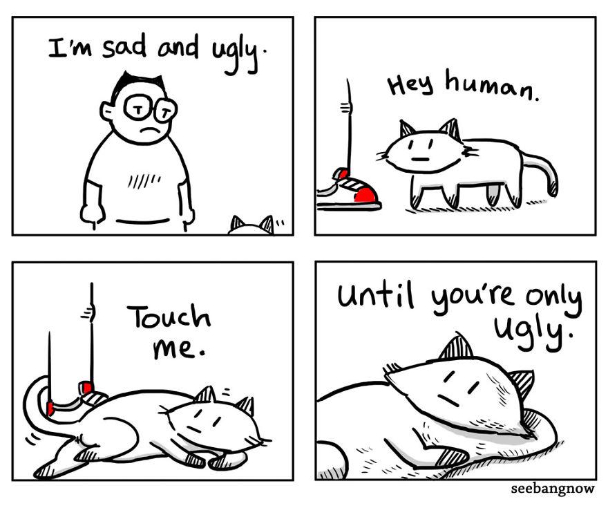 L'unica concessione che il gatto fa all'essere umano