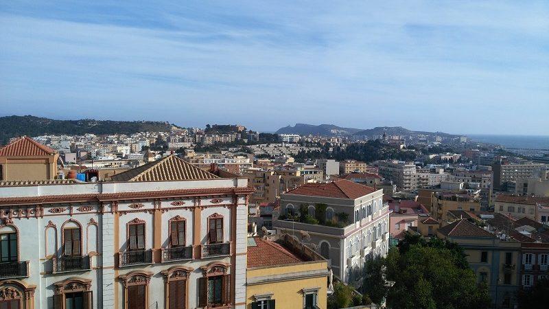 La città di Cagliari in Sardegna