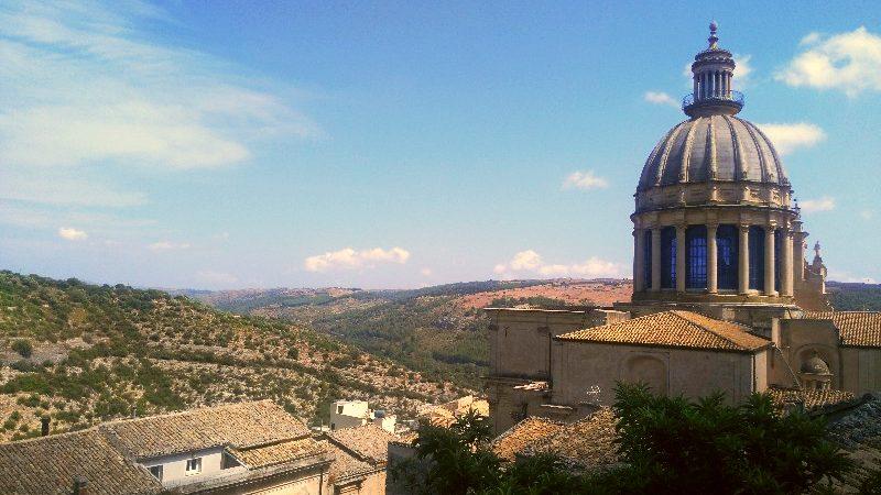 La vista su Ragusa Ibla, Sicilia