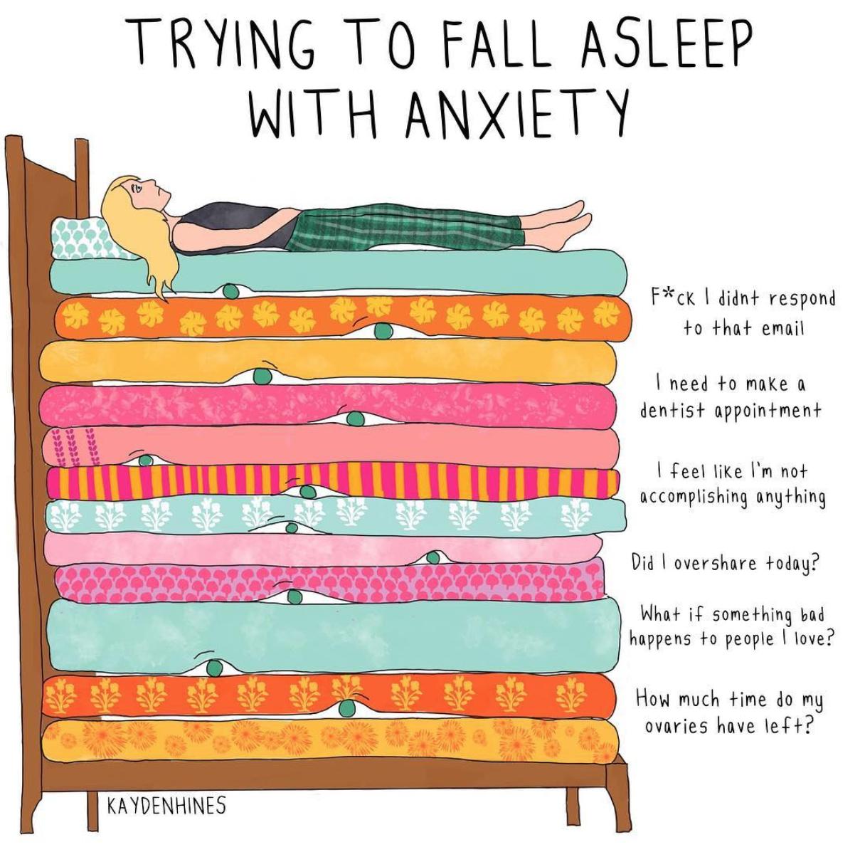 Provare a dormire con l'ansia