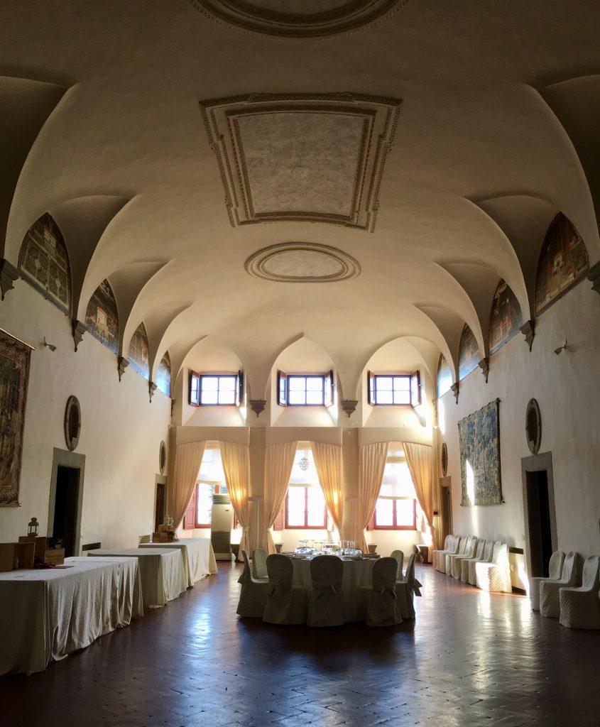 Gli interni della Villa Medicea di Artimino