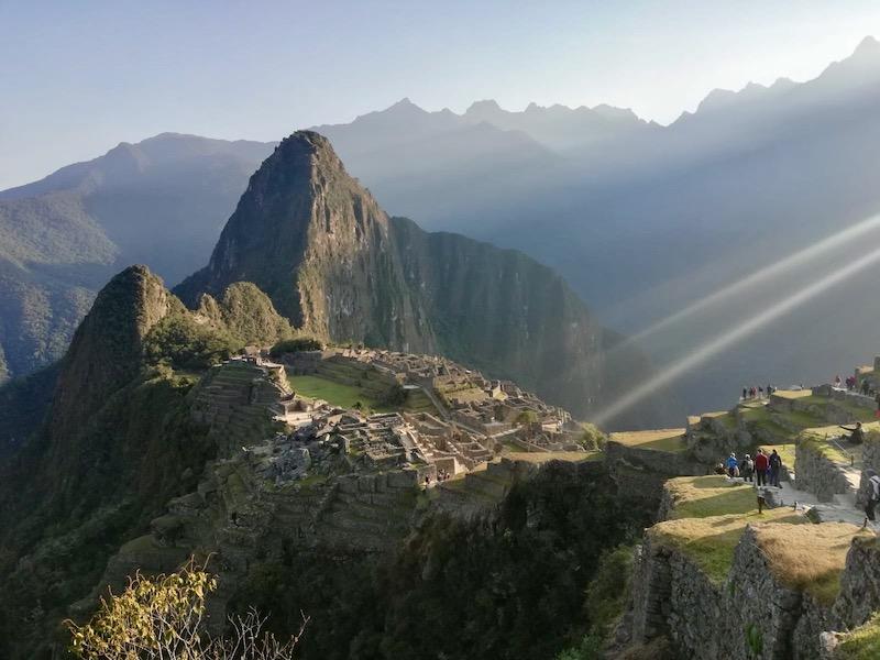 Alba sul Machu Picchu