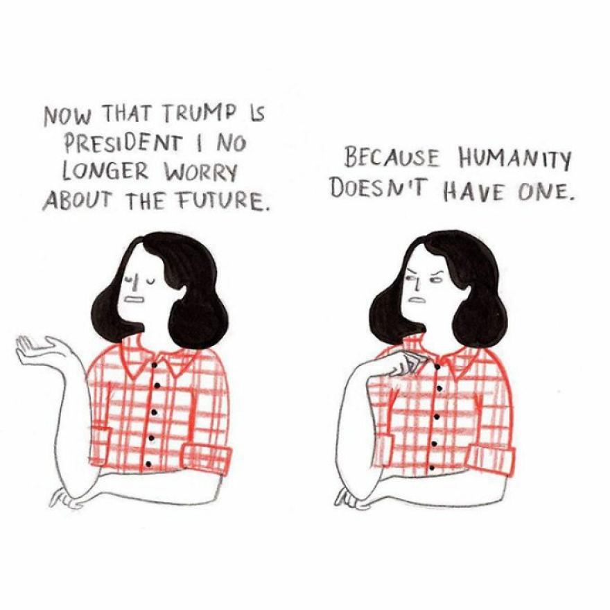 Julia Bernhard is an illustrator from Germany who draws comics about her renegade brain.